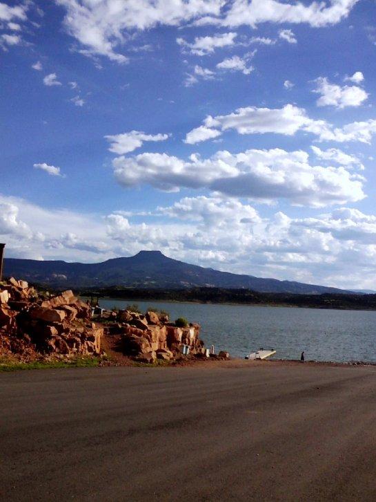 You're way visible. [Image: Sandi Martinez-Abiquiu Lake, NM, boat ramp.]
