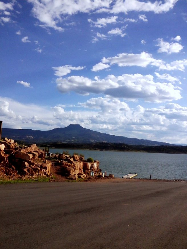 You're way visible. [Image: Sandi Martinez-Abiquiu Lake, NM, boat ramp.]